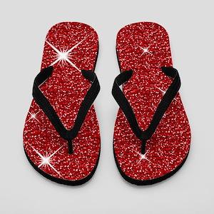 Red Ruby Slippers Flip Flops