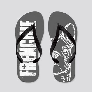 FRENCHIE (grey) Flip Flops