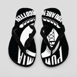 POW MIA Flip Flops