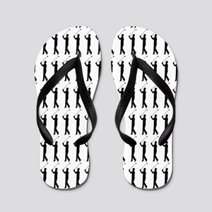 Golfing Silhouette or Icon Flip Flops