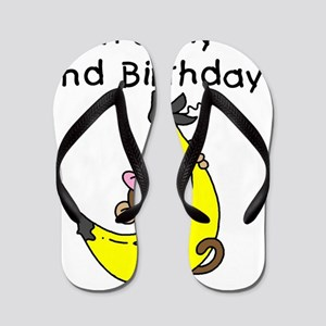 monkeygirl2ndbday Flip Flops