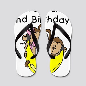 monktrip2ndbday Flip Flops
