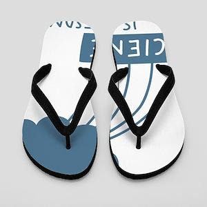 ScienceIsAwesome_dark Flip Flops