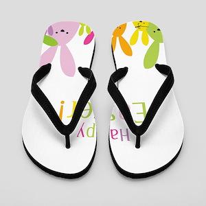 Easter Rabbits Flip Flops