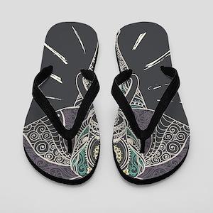 Indian Elephant Flip Flops