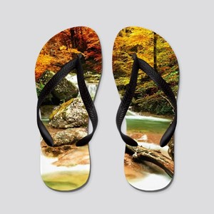 Autumn Stream Flip Flops