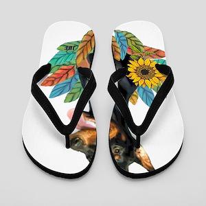 Leave2-Doberman1 Flip Flops