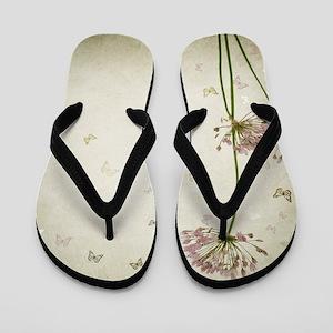 Vintage Floral Flip Flops