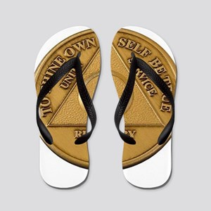 Alcoholics Anonymous Anniversary Chip Flip Flops