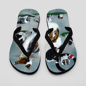 sheltie versatility Flip Flops