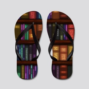Old Bookshelves Flip Flops