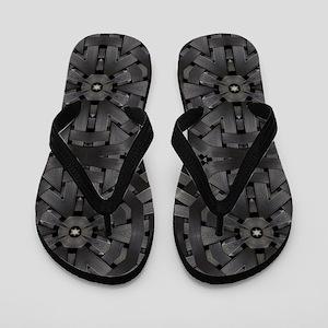 abstract pattern grunge industrial Flip Flops