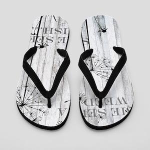 Dandelion Wish Flip Flops