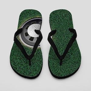 Golf Cup and Ball Flip Flops