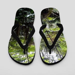 Tropical Jungle Flip Flops