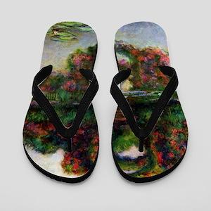 Claude Monet Rose Elbows Flip Flops