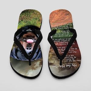 godmadedogs(button) Flip Flops