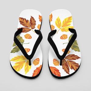 Autumn leaves Flip Flops