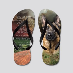 godmadedogs(button) Flip Flops