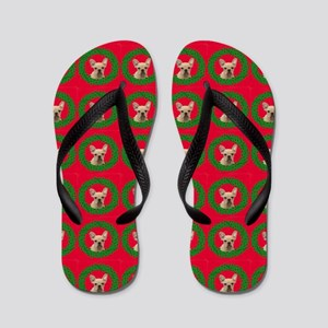Christmas French Bulldog Flip Flops