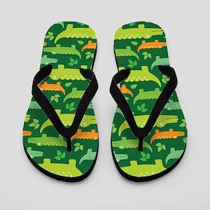 Crocodile Alligator Jungle Flip Flops