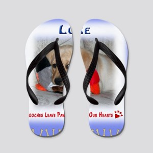 Personalized Critter Characters Pillow Flip Flops