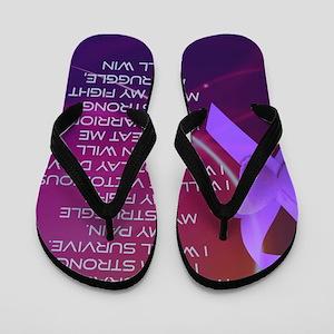 I am Strong Flip Flops