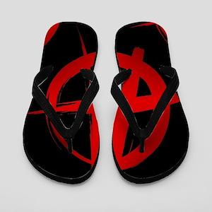 anarchy sign Flip Flops