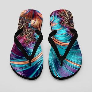 Feather - abstract 3d Fractal Flip Flops