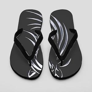 Silver Horse Flip Flops