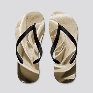Sepia Rose Flip Flops