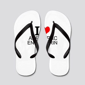 I Love Aerospace Engineering Flip Flops