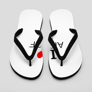 I Love Airsoft Flip Flops