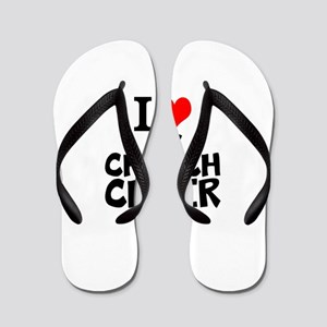 I Love My Church Choir Flip Flops