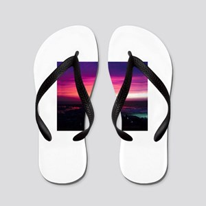 Beautiful Sunset Flip Flops
