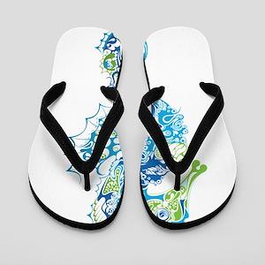 Fancy Seahorse Flip Flops