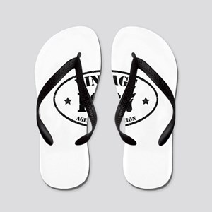 Vintage Aged to Perfection 1967 Flip Flops