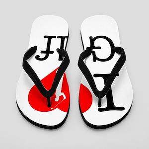 I Love Golf Flip Flops