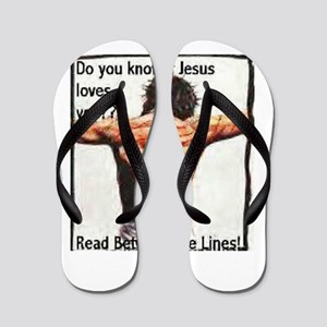 Do you know if Jesus loves you? Christi Flip Flops