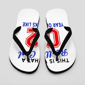 Really Cool 02 Birthday Designs Flip Flops