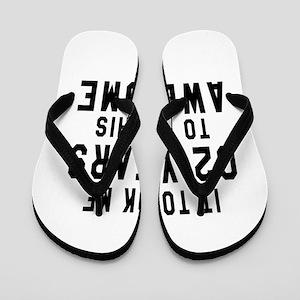 02 Years Birthday Designs Flip Flops