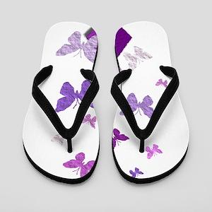Purple Awareness Ribbon Flip Flops