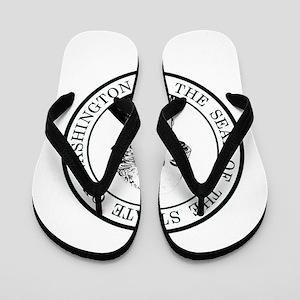 Washington State Black Flip Flops