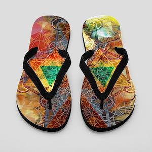 Metatron-Colorscape-Mandala-Poster Flip Flops