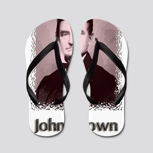 John Brown w text Flip Flops