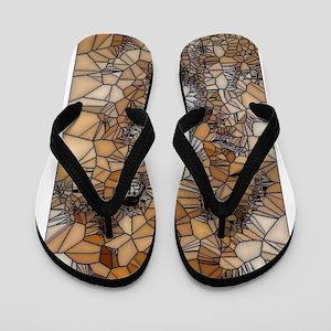 Lion mosaic 001 Flip Flops