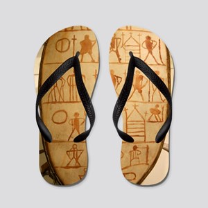 Traditional Sami drum Flip Flops