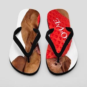 Love puppy Flip Flops