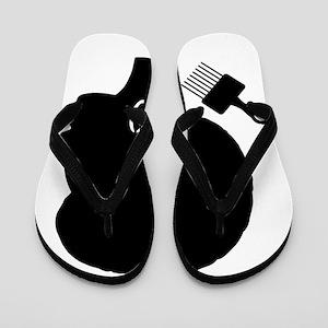 vintage black afro american woman Flip Flops