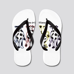 Dare to be Different Cows Flip Flops